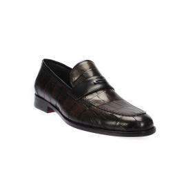 لوفر - حذاء نقشة الصدف جلد طبيعي 100%