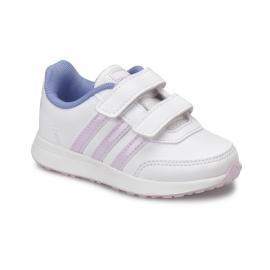 حذاء رياضي بناتي باللونين الزهري الفاتح و الزرق الفاتح من ماركة اديداس