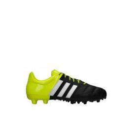 حذاء ولادي رياضي باللون الاسود مضاف اليه اللون الاصفر من الخلف من ماركة اديداس