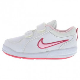 حذاء رياضي للبنات باللون الابيض و الزهري من ماركة نايك