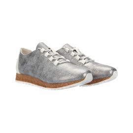 سنيكر - حذاء منمش من الجلد الطبيعي 100%