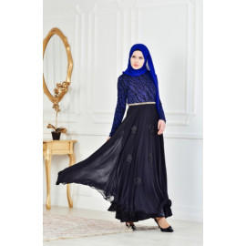 فستان الحفلات للمحجبات أسود