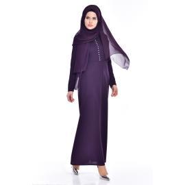فستان يومية للمحجبات أرجواني