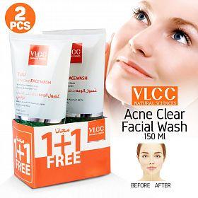 VLCC Tulsi حب الشباب غسول الوجه مع فيتامين E الخرز نشط 150ML 2 قطعة مجموعة C