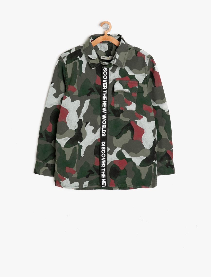 قميص عسكري اللون من ماركة KOTON