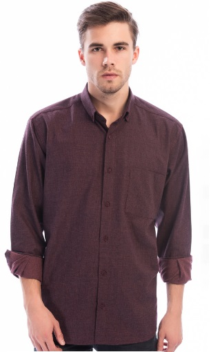 قميص رجالي بوردو